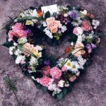 pink flowers in the shape of a heart