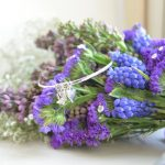 lavender bouquet on its side