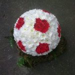 red and white flowers in a ball