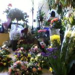 a selection of bouquets in Elaine's store