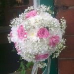 white and pink flowers in a bouquet